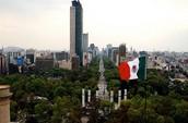 תמונה של מקסיקו עם דגלה