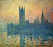 Le Parlement de Londres, soleil couchant, 1903