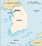 Location of Seoul, Korea