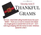 Thankful Grams raised $584