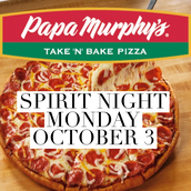 Dough-Raiser Spirit Night Monday