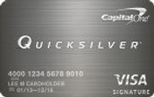 Credit Card Offer 1- Capital One® Quicksilver® Cash Rewards Card