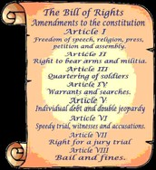 The Bill of Rights(Paraphrased)