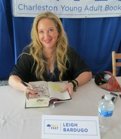 Leigh Bardugo signing RMS library books!