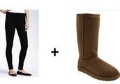 Leggings and Uggs (girl's winter outfit)