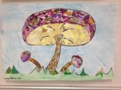 Mosaic Mushrooms by Leona, 5th Grade