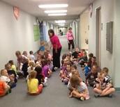 Mrs. Schmoll & Mrs. Bennett's classes learning bathroom procedures!