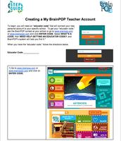 Creating a My BrainPop Teacher Account