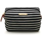 Black/Cream Stripe Pouf