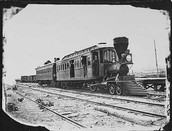 Where was the first railroad built? Why?