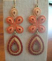 Capri Earrings - coral/orange $20