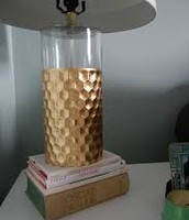 Gold table lamp - SOLD !