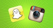 Instagram and Snapchat