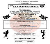 Shiloh Athletic Association Basketball Registration November 5
