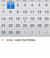 Calendar for the KPBSD APP
