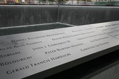 Engraved Names of 9/11 Victims