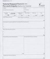 TRF form used in tutorials