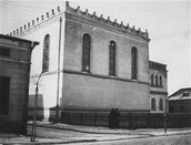 The main synagogue in Lubaczow,Poland