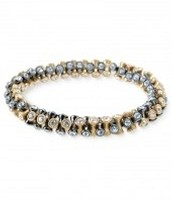 Gold & Hematite Vintage Twist Bracelet (small/medium)