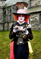 """We're all quite mad here, You'll fit right in"" -The Mad Hatter"