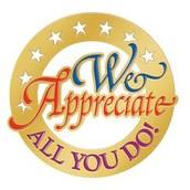 Teacher Appreciation Week:  May 2nd-6th