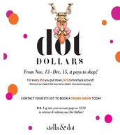 Earn your Dot Dollars until 12/15