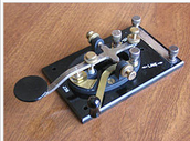 This is what the telegraph key looked like