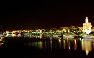 The city of Sevilla at night