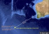 Flight 370's last location