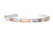 Colorblock Bracelet - Blush