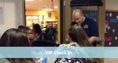 Mr. Merta doing VIP Check-in