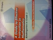 A Guide to Effective Instruction in Mathematics K-3