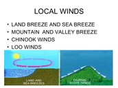 How are local winds created