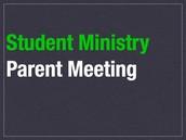 2016 Parent Info and Prayer meeting, 1/17