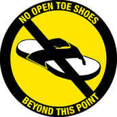 Clothing: Opened toed shoes