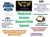 Thank you to all of our Shamrock Shake Sponsors