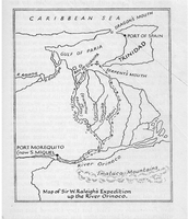 Map of Walter Raleigh's Journey
