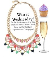 I'm giving away 3 catered trunk shows!