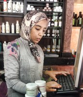 Nadia is just one of the many ladies that work in a women's co-operative in Morocco.