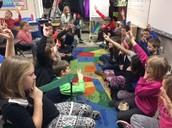 PBIS lesson and practice in Ms. Lash's room.