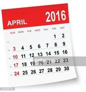 April Dates