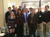 AP Gov Class at Chamber Breakfast with the Governor