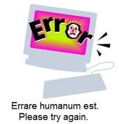 When an error occurs...
