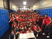 Students wore red to support funding for our schools!