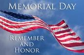 May 25... Memorial Day
