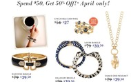 Our Monthly Trunk Show Exclusive items for April