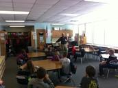 Mayor Johnson in Mr. Wendlandt's Class
