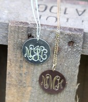 The Initial Necklace in Gold & Silver