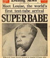 Louise Joy Brown on day of birth