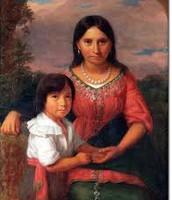 Pocahontas and her son, Thomas.